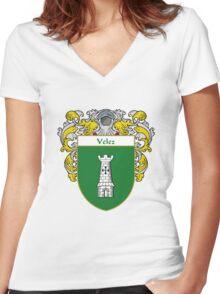 Velez Coat of Arms/Family Crest Women's Fitted V-Neck T-Shirt