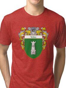 Velez Coat of Arms/Family Crest Tri-blend T-Shirt