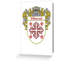 Villarreal Coat of Arms/Family Crest Greeting Card