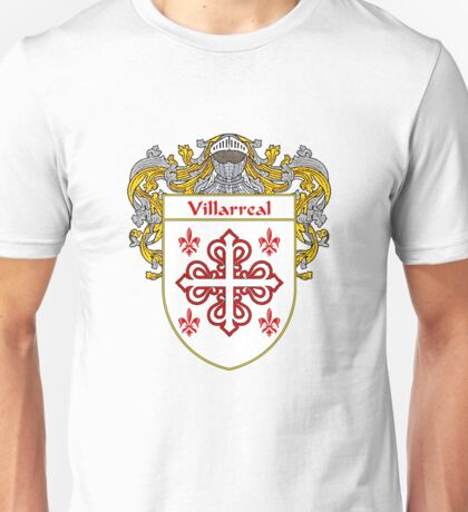 Villarreal Coat of Arms/Family Crest Unisex T-Shirt