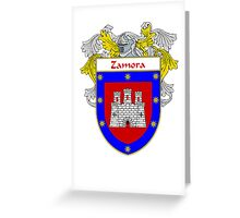 Zamora Coat of Arms/Family Crest Greeting Card