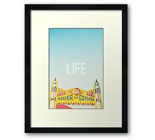 Life is a Roller Coaster Framed Print