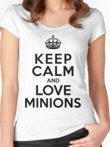 Keep Calm And Love Minions Women's Fitted Scoop T-Shirt