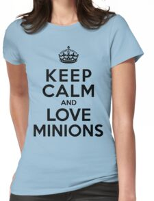 Keep Calm And Love Minions Womens Fitted T-Shirt