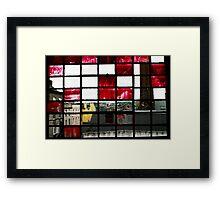Red Window in Cork Framed Print
