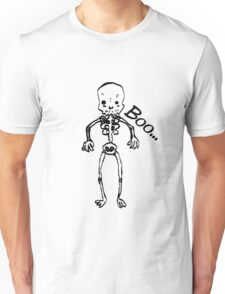Not so scary skeleton sketch. Unisex T-Shirt