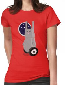 Robot Rabbit in Space Womens Fitted T-Shirt