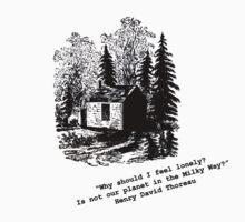 """""""Never Lonely"""" - Thoreau at Walden by unusuwall"""