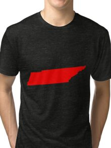 Tennessee in Red Tri-blend T-Shirt