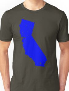 California in Blue Unisex T-Shirt