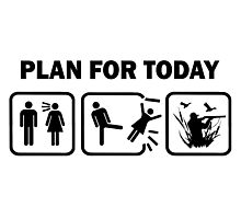 Funn Duck Hunting Plan For Today T Shirt Photographic Print