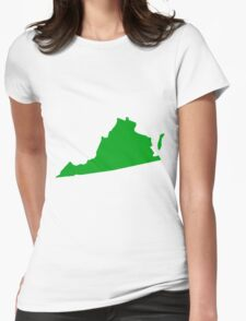 Virginia in Green Womens Fitted T-Shirt