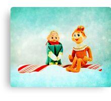 Elf First Date Canvas Print