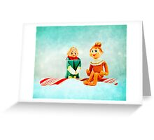 Elf First Date Greeting Card