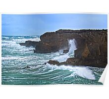Storm waves at Thunder Point Poster