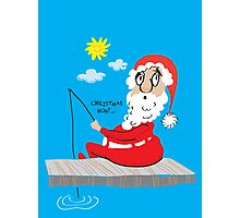Christmas huh?...Santa Claus gone fishing Photographic Print