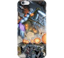 Godzilla Stomps Tokyo by Al Rio iPhone Case/Skin