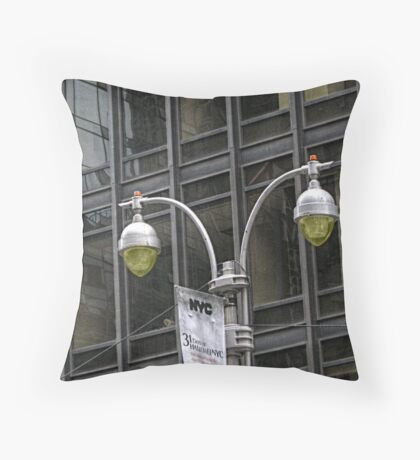 Lights and Windows in NYC Throw Pillow