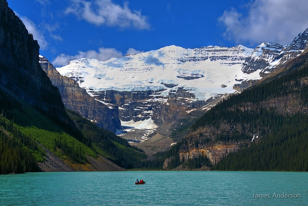 Victoria Glacier  and Lake Louise by JamesA1