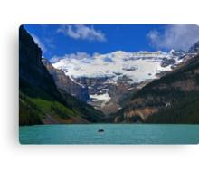 Victoria Glacier  and Lake Louise Canvas Print