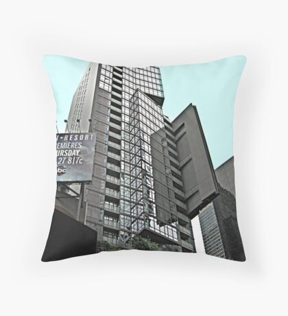 Geometric SkyScraper of Glass in Times Square, NYC Throw Pillow
