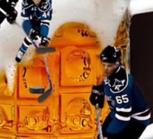 █ ♥ █  HOCKEY THE SPIRIT OF CANADIANS CHEERS-BEER HOCKEY TEE SHIRT █ ♥ █  Sticker