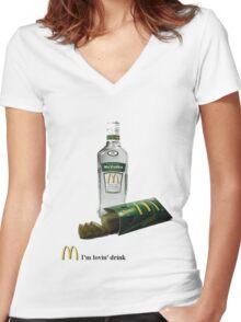 mc vodka Women's Fitted V-Neck T-Shirt