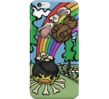 Teddy Bear And Bunny - End Of The Rainbow iPhone Case/Skin