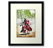 The White Stag Knight Framed Print