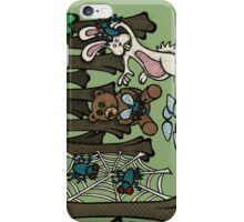 Teddy Bear And Bunny - Having Fun iPhone Case/Skin