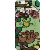 Teddy Bear and Bunny - Jump Rope iPhone Case/Skin