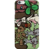 Teddy Bear And Bunny - The Games Not Over iPhone Case/Skin