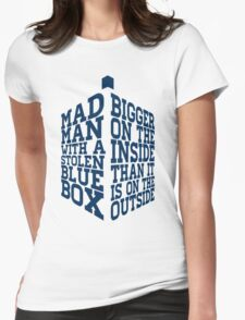 Mad Man With A Blue Box Womens Fitted T-Shirt