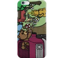 Teddy Bear And Bunny - The Abduction iPhone Case/Skin