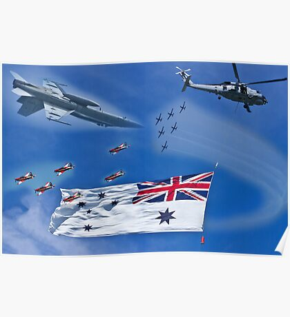Aircraft from Sydney Navy Review Poster