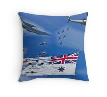 Aircraft from Sydney Navy Review Throw Pillow