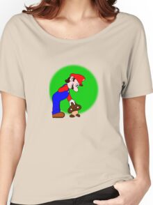 Mario showing his soft side Women's Relaxed Fit T-Shirt