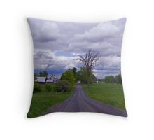 That country road Throw Pillow