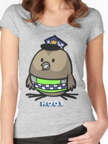 Jerome, the Policing Owl: H.O.O.T. Women's Fitted Scoop T-Shirt