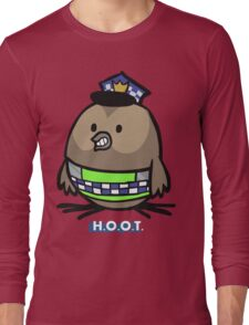 Jerome, the Policing Owl: H.O.O.T. Long Sleeve T-Shirt
