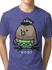 Jerome, the Policing Owl: H.O.O.T. Tri-blend T-Shirt