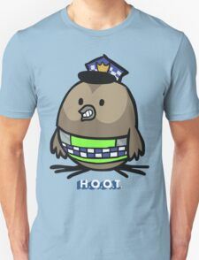 Jerome, the Policing Owl: H.O.O.T. Unisex T-Shirt