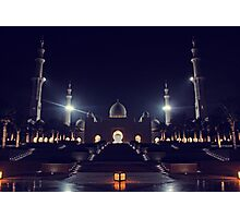Zayed Grand Mosque Entrance Photographic Print