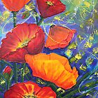 Poppies Seeking Light by Wendy Sinclair