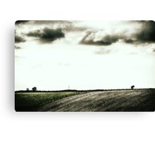 Fence, Trees and Clouds Canvas Print