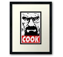 Heisenberg COOK! Framed Print