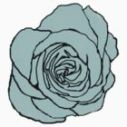 Pale Blue Open Rose by LastLittleBird
