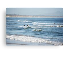 Byron Surfers  Canvas Print