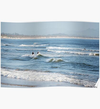 Byron Surfers  Poster