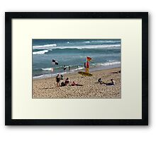 Saturday On The Sand Framed Print